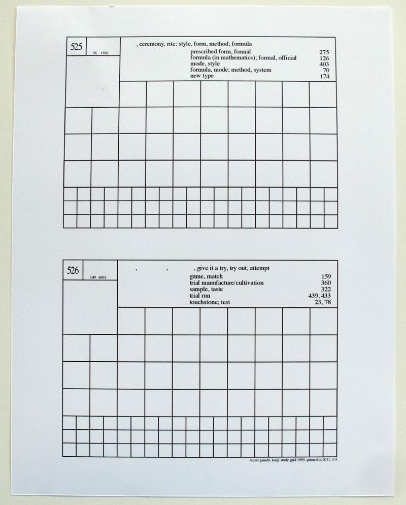 rainer ganahl kanji grid 1993