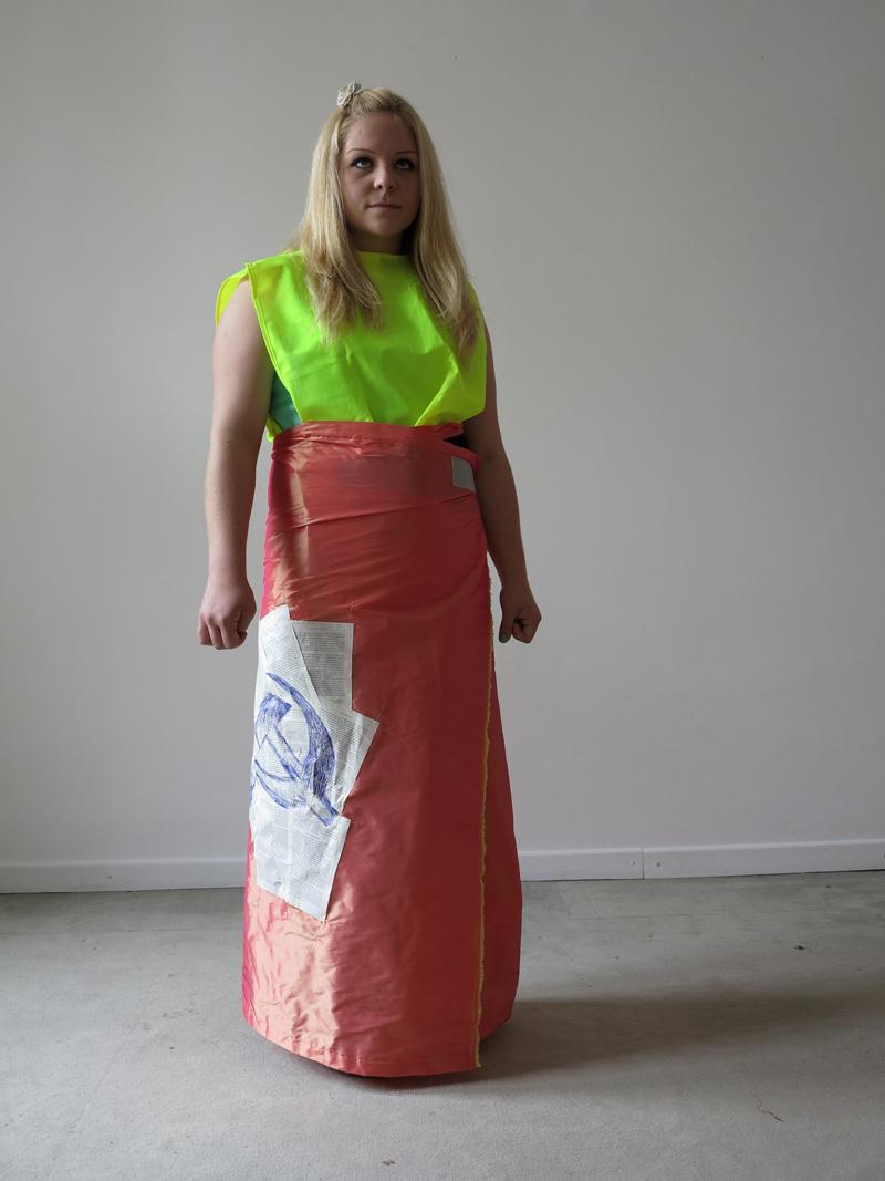 rainer ganahl karl marx dressing UP. fashion