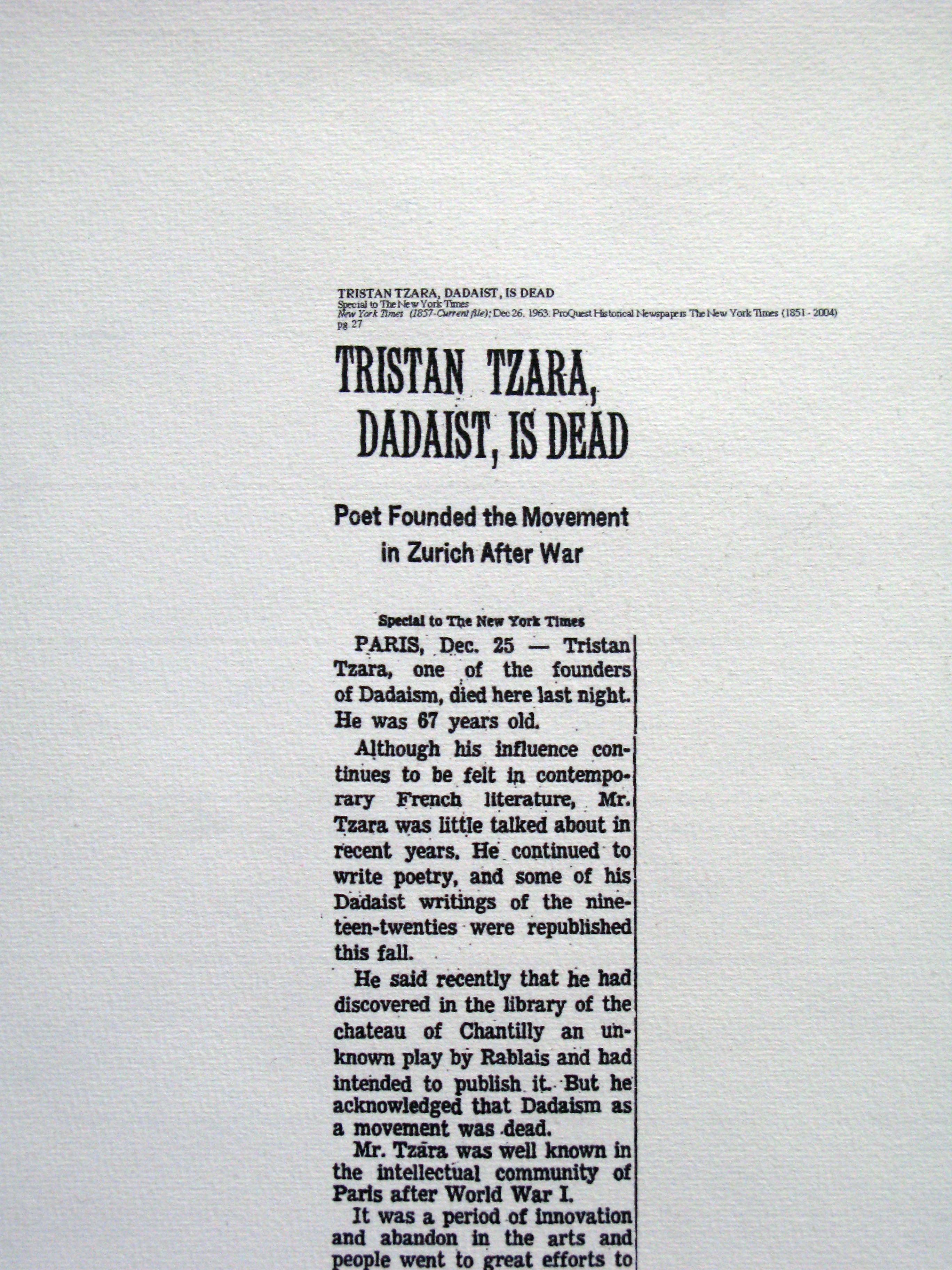 Ddth Tzara D